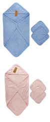 Baby Organic Cotton Hooded Nursery Towel Wrap Set