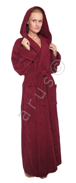 hood'n full bathrobe from luxury style bathrobes, for women and