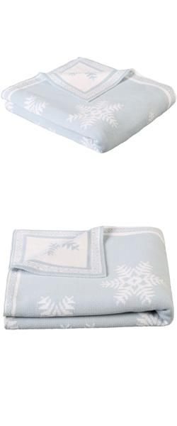 Cotton Snowflake Throw Blanket