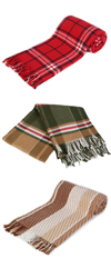 Scotch Collection Cotton Blend Throw Blanket