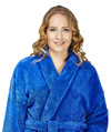 Womens Shawl Fleece Bathrobe